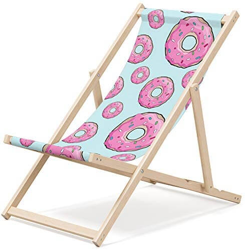 NOVAMAT - Chaise longue pliante en bois