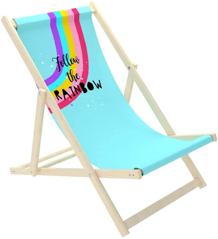 NOVAMAT - Chaise longue pliante en bois fun
