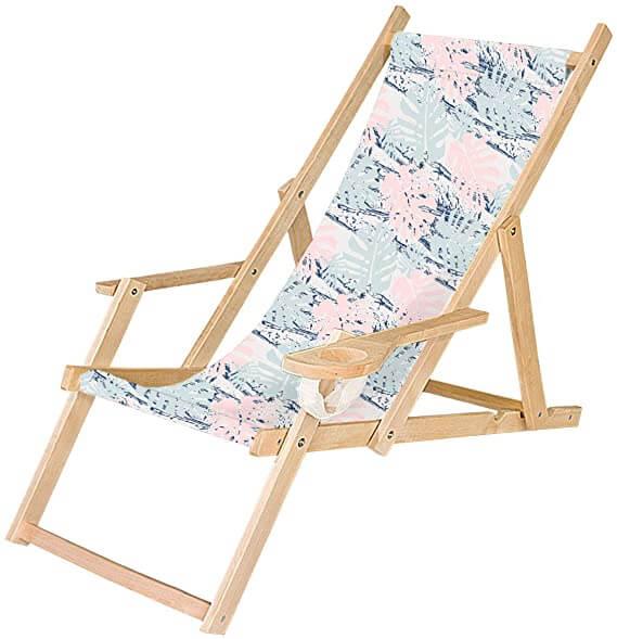 FEROCITY - chaise longue pliable en bois pas cher